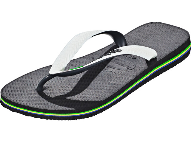 havaianas Brasil Mix Miehet sandaalit , valkoinen/musta